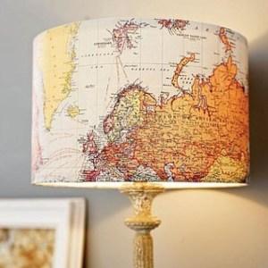 landkaartlampenkap
